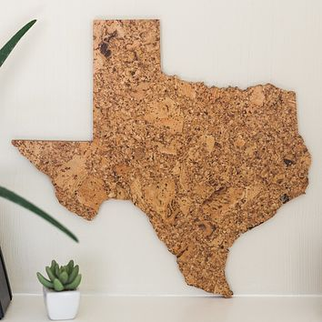 Cork Map of Texas