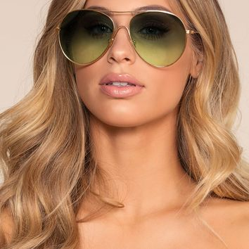 Groove With Me Sunglasses - Green