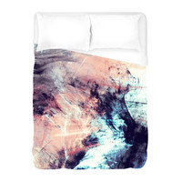 Marbled Glow Duvet Cover