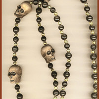 SKULL BEADS Costume Mardi Gras Gasparilla by TheMaineCoonCat