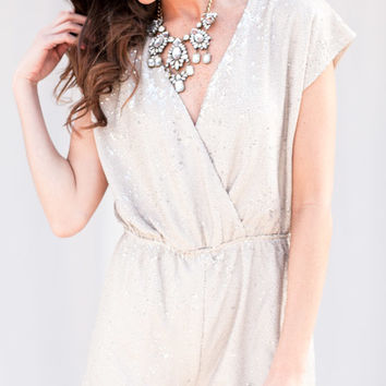 Holiday Getaway Silver And Gray Romper