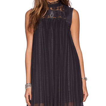Free People Penny Georgette Babylon Dress in Black