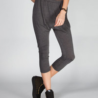 Lily White Womens Crop Slouch Pants Grey  In Sizes