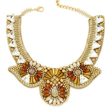 Ela Design Studio Cassiopeia Rhinestone Necklace