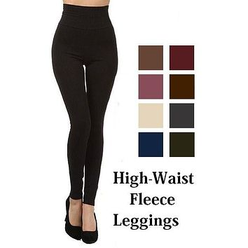 Warm Fuzzy Feeling High Waist Fleece Leggings DARK OLIVE