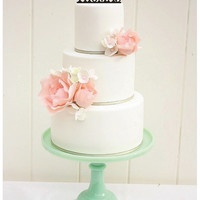 Wedding Cake Topper Monogram Mr and Mrs Topper Heart Design with YOUR Last Name
