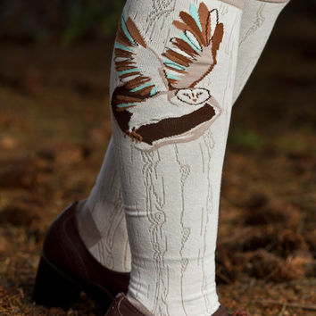 Sock Dreams - Barn Owl Knee High