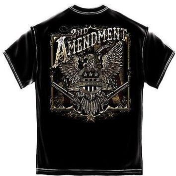 New 2ND AMENDMENT RIGHT TO BEAR ARMS EAGLE T SHIRT -AWESOME  NRA  SHIRT- USA