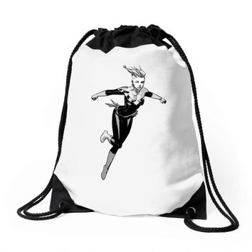 captain marvel 8 Drawstring Bags
