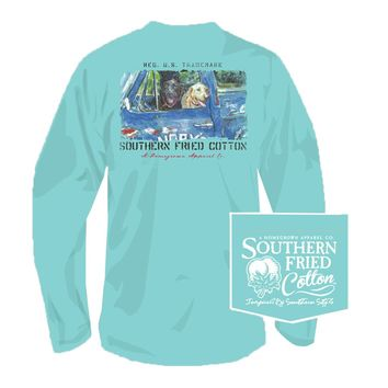 Hardly Workin' Long Sleeve Tee in Mason Jar by Southern Fried Cotton