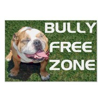 "BULLY FREE ZONE 52"" x 35"" poster from Zazzle.com"