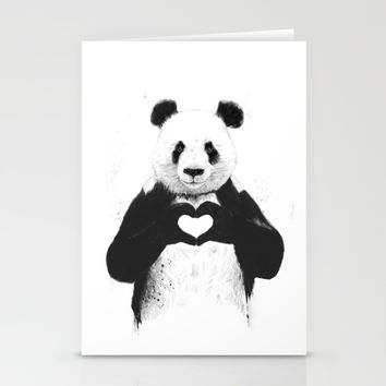 All you need is love Stationery Cards by Balazs Solti