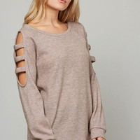 Simple Saturday Top - Mocha