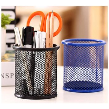 Super Quality Metal Pen Holders Multifunction Pen Vase Pen Case Pencil Pot Makeup Brush Holder Stationery Container Desk Tidy