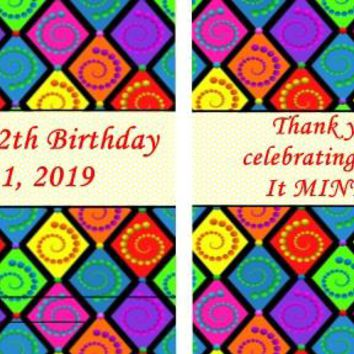 20 Colorful Circus Background Birthday Party Mint Favors