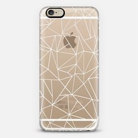 Abstraction Outline White Transparent iPhone 6s case by Project M | Casetify