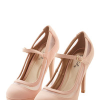 ModCloth Soiree It Again Heel in Blush