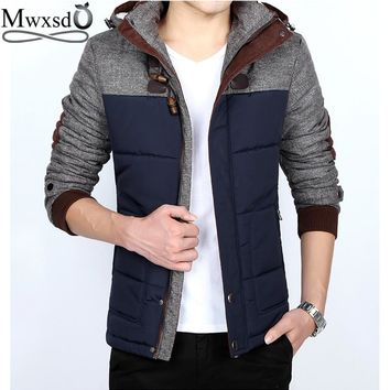 high quality brand men's winter warm hooded jacket and coat casual men warm fur coat male bomber jacket plus size M-5XL