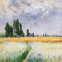 The Wheat Field Poster by Monet