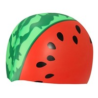 Sporti Watermelon Silicone Swim Cap at SwimOutlet.com