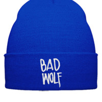 bad wolf EMBROIDERY HAT - Beanie Cuffed Knit Cap