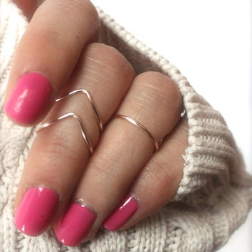 Rose Gold Knuckle Ring Set