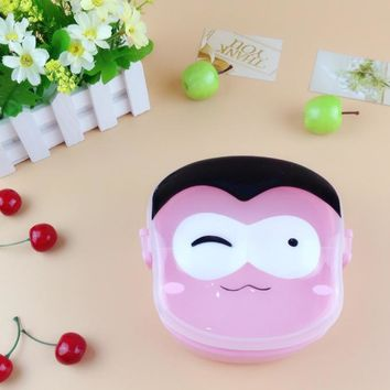 Cute Cartoon Man Face Bento storage Box meal Kids Lunchbox Plastic Food Containers food box Creative kitchenware dinner set