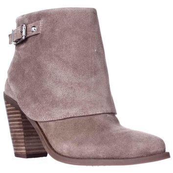 Jessica Simpson Caralyne Ankle Cuff Block Heel Booties, Totally Taupe, 5.5 US / 35.5 EU