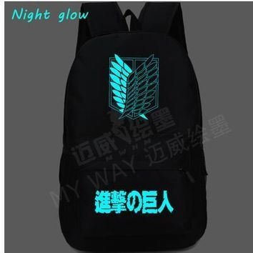 Cool Attack on Titan NEW Japan Anime  Backpack Printing women School Bag men Travel shoulder Bag Mochila Teenage Girl Backpacks AT_90_11