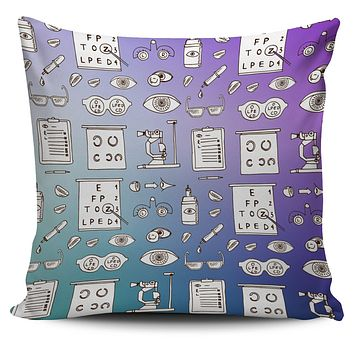 Optometry Sketch Pillow Cover