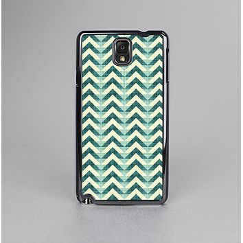 The Vintage Green & Tan Chevron Pattern Skin-Sert Case for the Samsung Galaxy Note 3