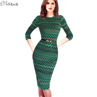 New Arrive Womens Elegant Vintage Pinup Tunic Business Work Office Casual Party Club Fit Pencil Dress