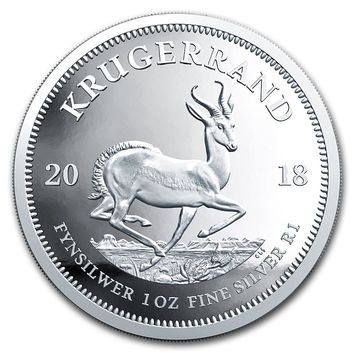 2018 South Africa 1 oz Silver Krugerrand Proof
