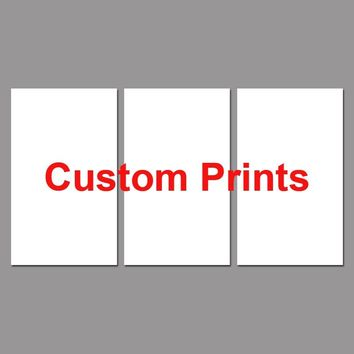 Drop Shipping Custom Made Canvas Wall Art Picture Landscape Painting 3 Panel Customized Modern Living Room Decorative PENGDA