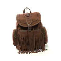 Suede Fringed Backpack 5 Colors