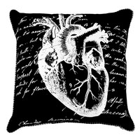"""Anatomical Heart"" Pillow by Spitfire Girl"