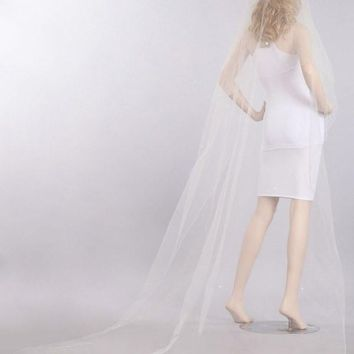Chapel train wedding Veil  V1057-110 - CLOSEOUT