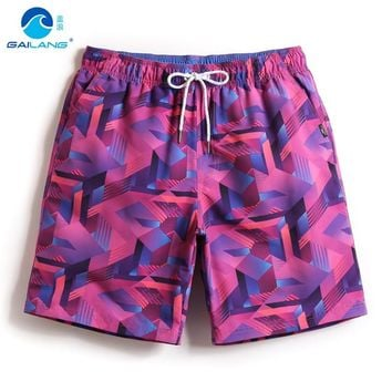 Gailang couples boardshorts liner sweat swimsuit mens bermudas geometric patterns siwmming trunks beach surfing bathing suit