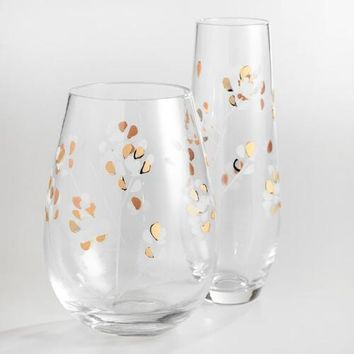 Etched Branches Glassware Collection