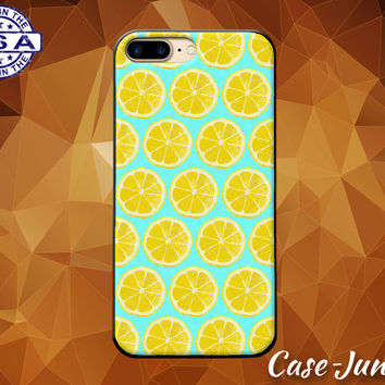 Mint Blue Lemon Pattern Fruit Tumblr Cute New Case iPhone 5 5s 5c iPhone 6 and 6+ and iPhone 6s iPhone 6s Plus iPhone SE iPhone 7 +