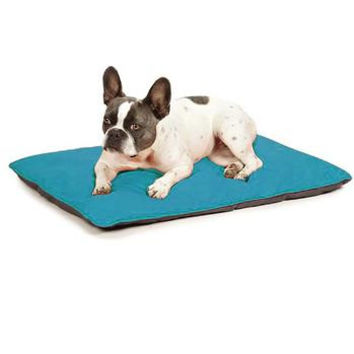 Insect Shield Reversible Dog Beds - Teal and Slate