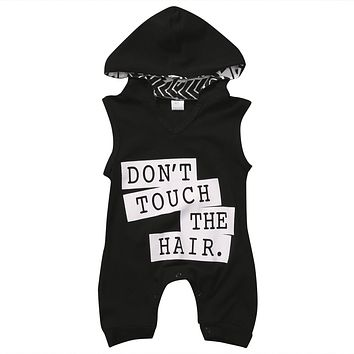 0-3Y Newborn Baby Boy Hooded Romper Summer Sleeveless Cool Design Infant Boys Clothes Cotton Outfits