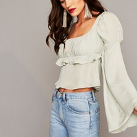 Babe Blouse - Capri Blue | Stone Cold Fox