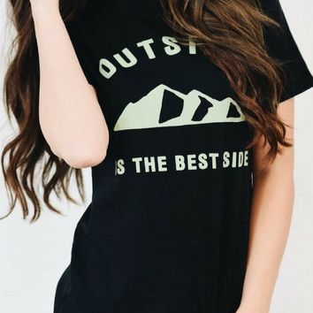 """Outside is the Best Side"" Graphic Tee"