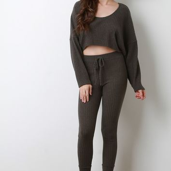 Call Me Sofi Crop Sweater with Leggings