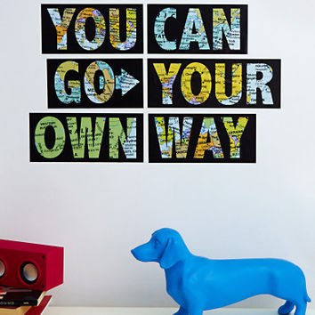 Go You Own Way Wall Decal Set