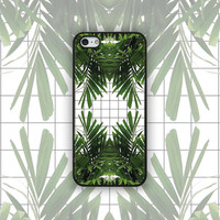Leaves x Grid - iPhone Case Cover 4/4s/5/5s/5c/6
