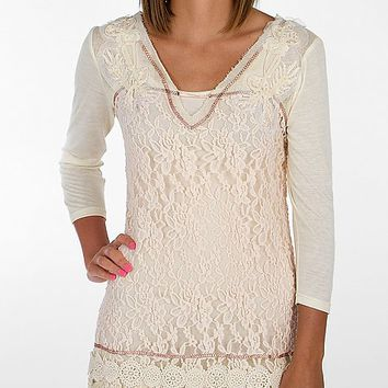 Gimmicks by BKE Pieced Lace Top - Women's Shirts/Tops | Buckle