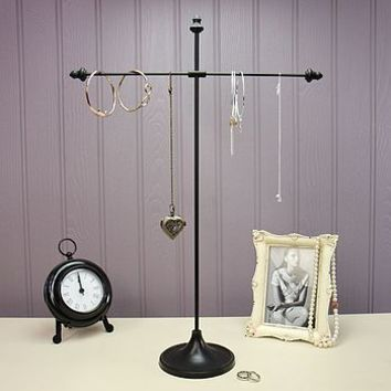 Black Two Arm Jewellery Stand