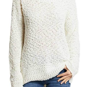Listicle Textured Popcorn Lightweight Sweater